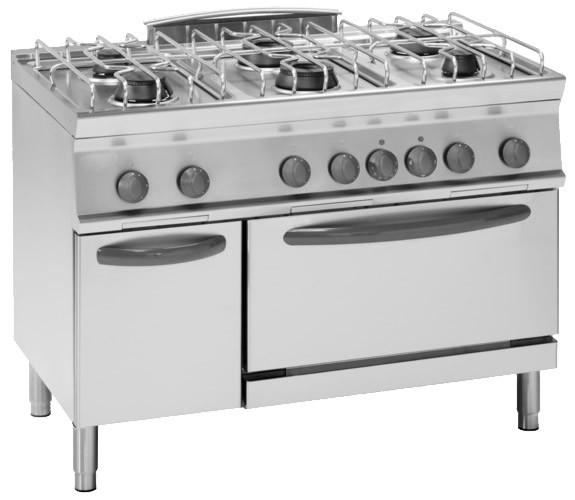 Macchine da cucina a gas regal by tecnogas cucina a gas 4 fuochi forno elettrico fornello a - Cucina a gas da 90 ...