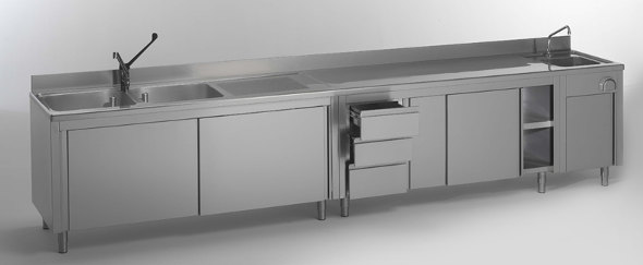 arredamenti in acciaio inox per la ristorazione - macchine del gusto - Pensili Inox Per Cucina