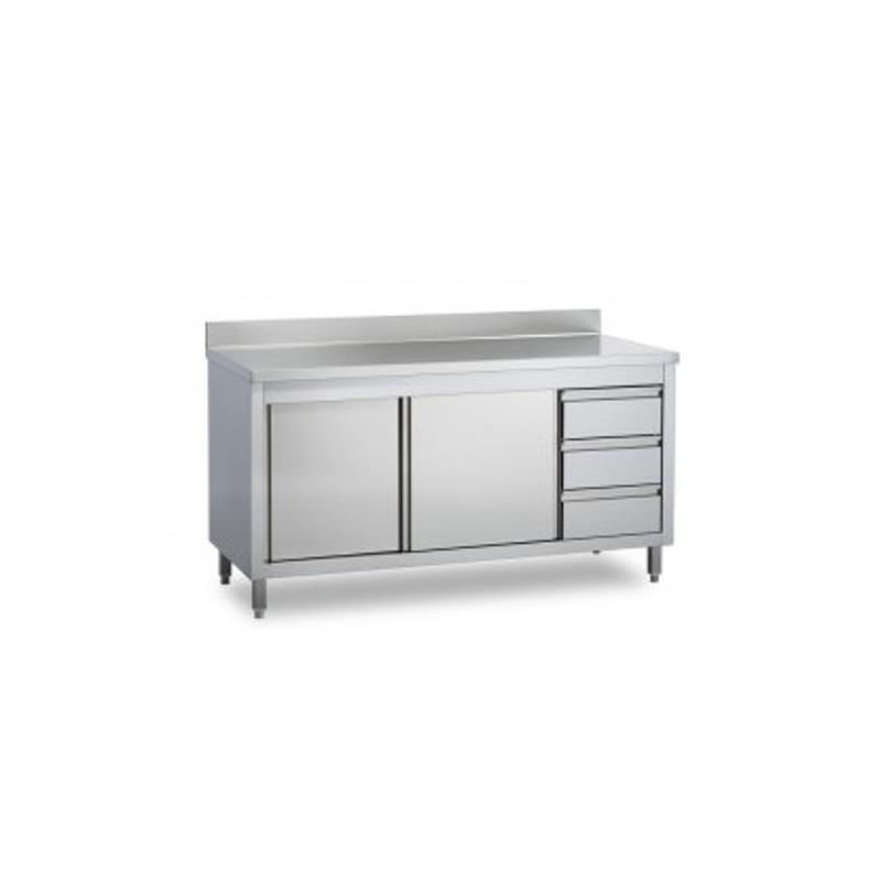 Tavolo armadio con cassettiera alzatina e porte scorrevoli - Armadio con porte scorrevoli ...