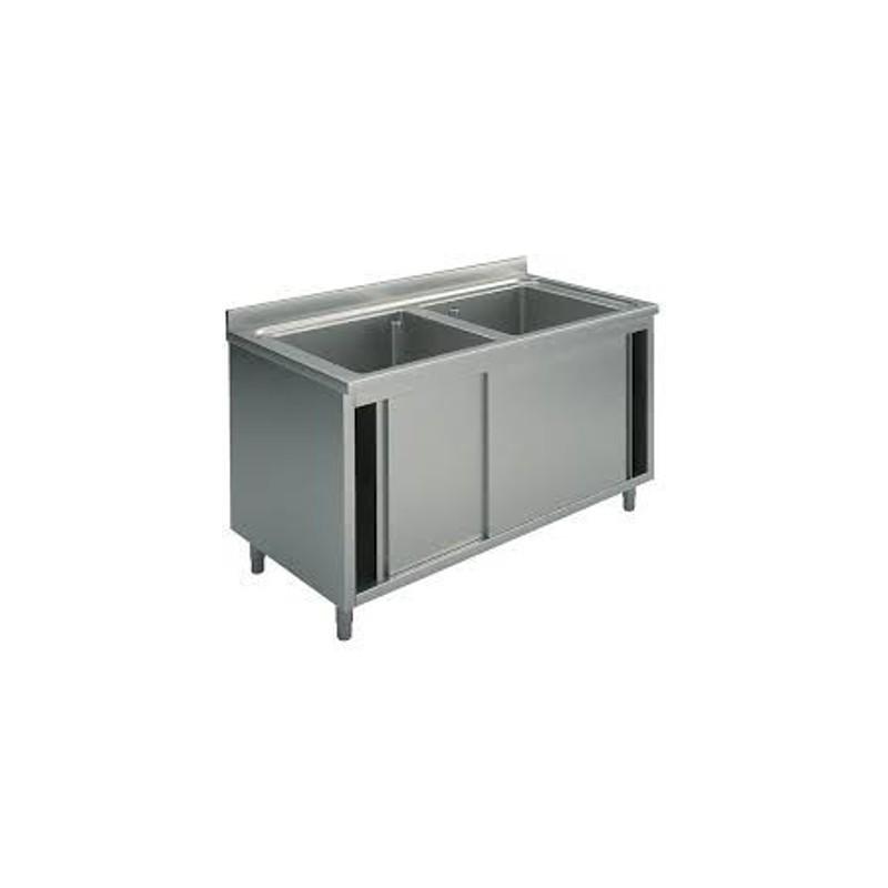 Lavatoio armadio con due vasche e porte scorrevoli macchine del gusto - Armadio con porte scorrevoli ...