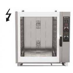 Forno elettrico per pasticceria misto con vapore diretto a comandi manuali-Capacita' 8x(60x40)
