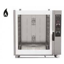 Forno a gas misto pasticceria con vapore diretto comandi manuali-Capacita' 8x(60x40)