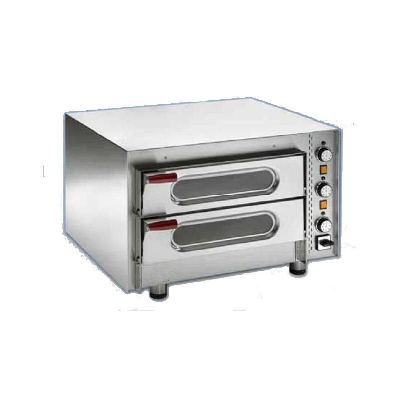 Forno elettrico per pizza camera doppia refrattaria macchine del gusto - Pizza forno elettrico casa ...