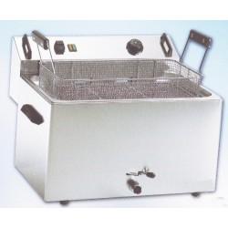 FRIGGITRICE DA BANCO ELETTRICA 16 litri Trifase con rubinetto di scarico