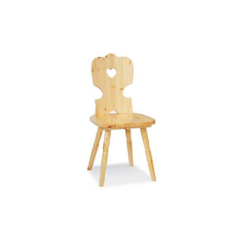 sedia in legno pino