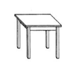 TAVOLO IN LEGNO DI PINO QUADRATO 60x60x75 cm PER RISTORANTI (quantità minima 4 tavoli)