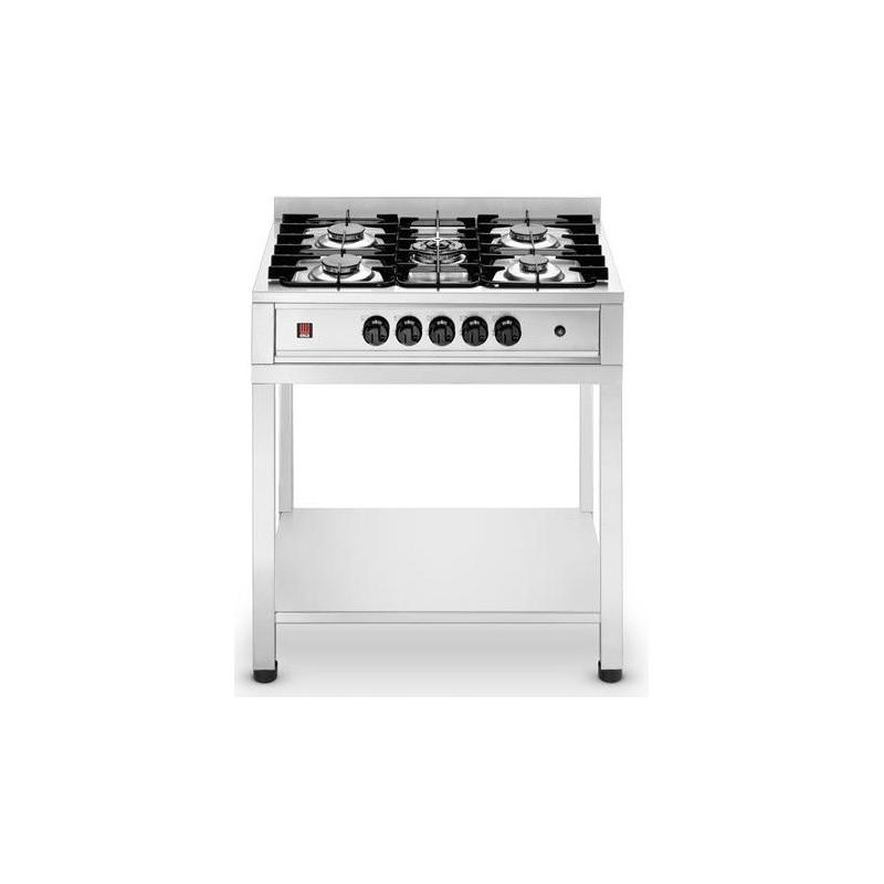 Cucina ristorante elettrica con 5 fuochi e tavolo macchine for Cucina 5 fuochi