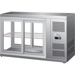 Vetrinetta refrigerata ventilata acciaio inox, porte scorrevoli