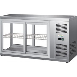 Vetrinetta refrigerata ventilata acciaio inox,