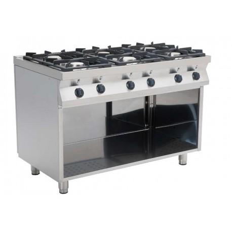 Cucina A Gas Casta 6 Fuochi Macchine Del Gusto