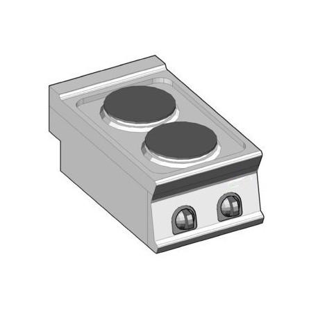Piano cottura elettrico da incasso- 2 piastre-Macchine del Gusto