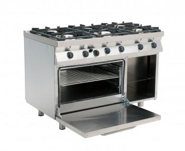 cucina profesionale con forno elettrico