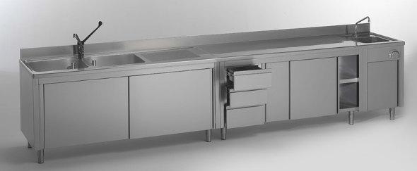 Arredamenti in acciaio inox per la ristorazione macchine for Arredamento ristorazione